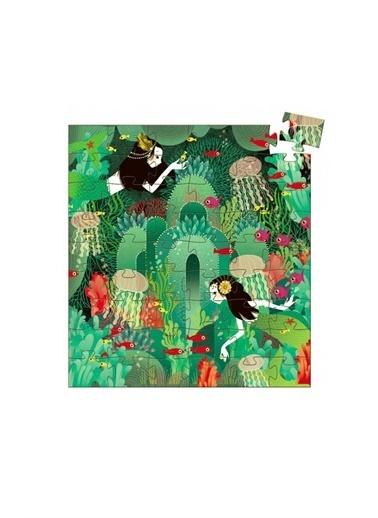 Djeco Djeco Dekoratif Puzzle 54 Parça/Su Perisi Pembe